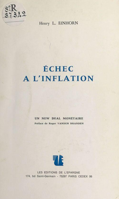 Échec à l'inflation : un new deal monétaire