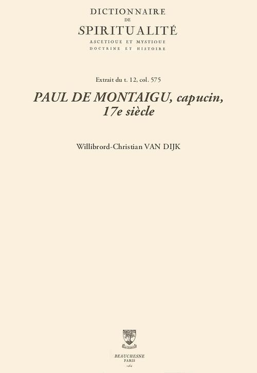PAUL DE MONTAIGU, capucin, 17e siècle