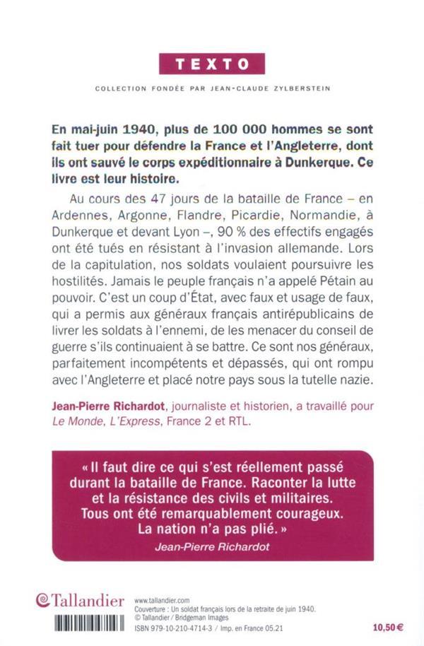 100 000 morts oubliés : la bataille de France, 10 mai - 25 juin 1940