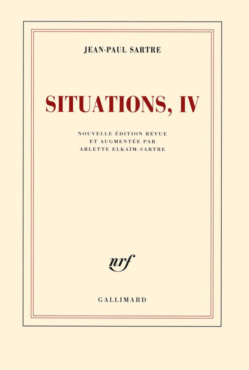 Situations (Tome 4) - Avril 1950 - avril 1953  - Jean-Paul Sartre