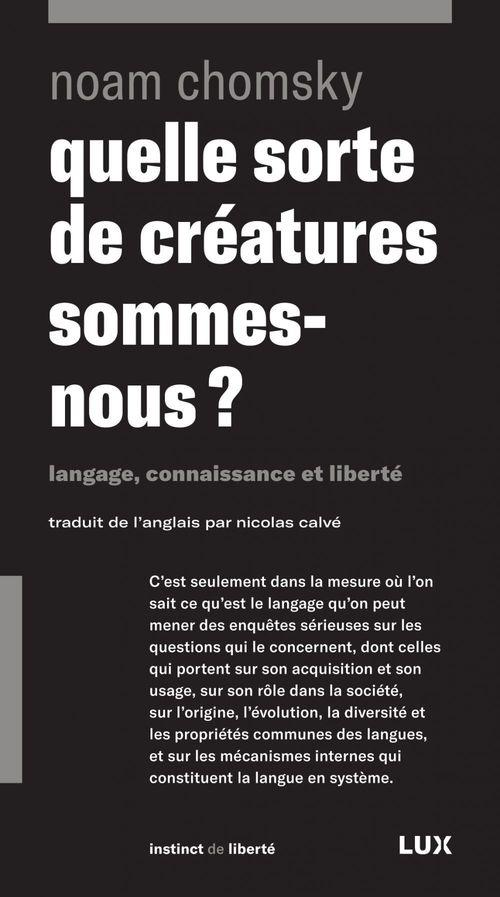 Quelle sorte de creatures sommes-nous ?-langage, connaissanc