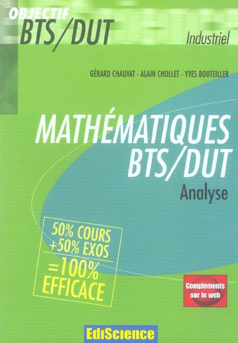 Mathematiques Bts/Dut Industriels - Analyse - Livre+Complements En Ligne