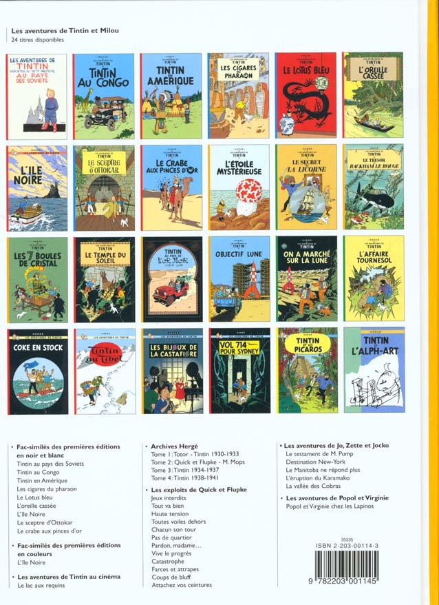 Les aventures de Tintin t.15 ; au pays de l'or noir