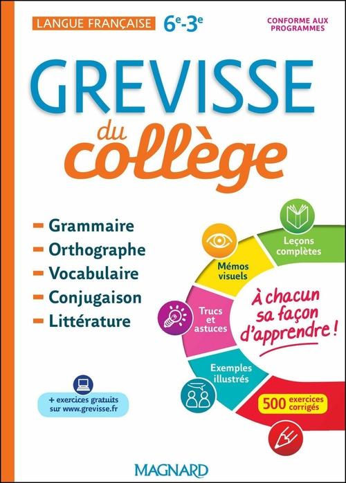 Grevisse du collège ; langue française ; 6e/3e