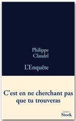 Vente Livre Numérique : L'Enquête  - Philippe Claudel