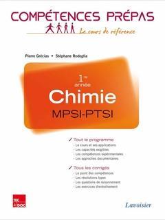 COMPETENCES PREPAS ; chimie ; MPSI-PTSI 1re année