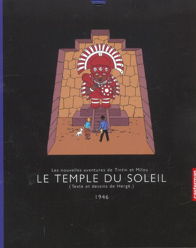 Les aventures de Tintin T.14 ; le temple du soleil (édition 1946)