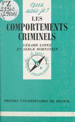 Vente Livre Numérique : Les comportements criminels  - Serge Bornstein