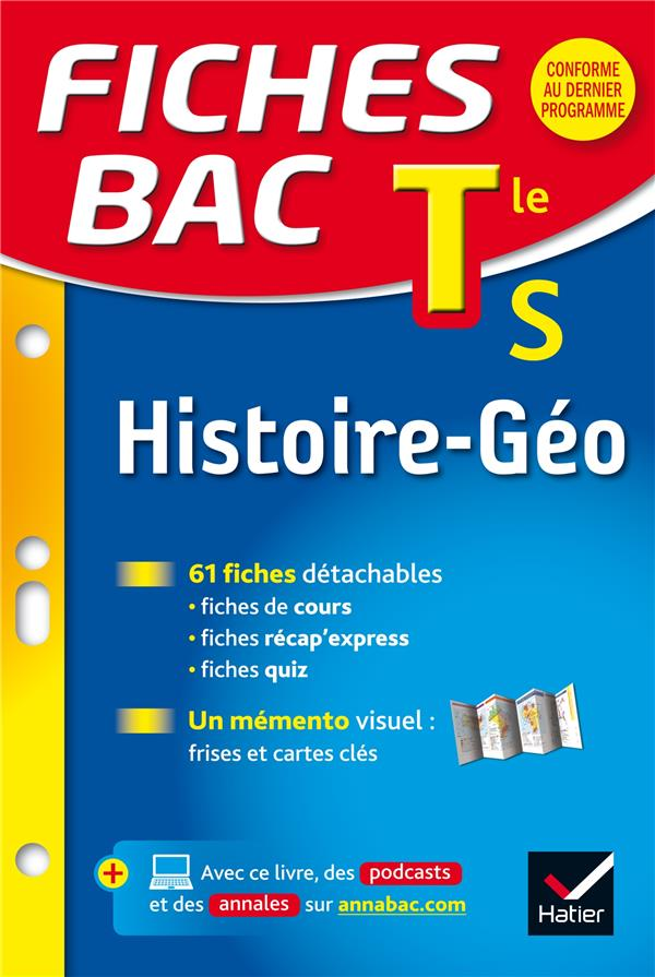 Fiches Bac; Histoire-Geographie ; Terminale S