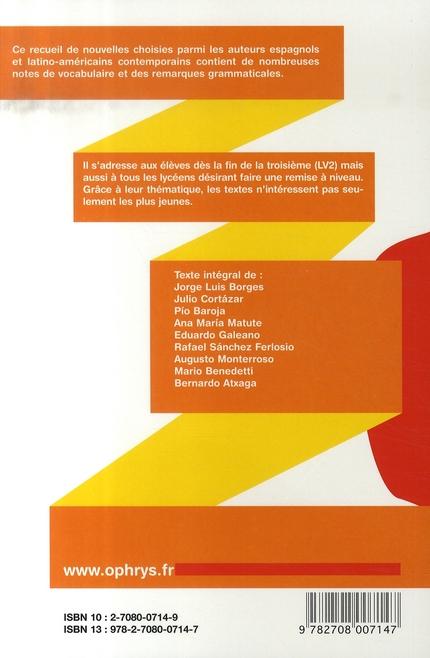 histoires faciles à lire ; espagnol ; textes avec vocabulaire