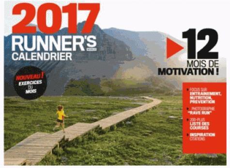 Calendrier runner's world (édition 2017)