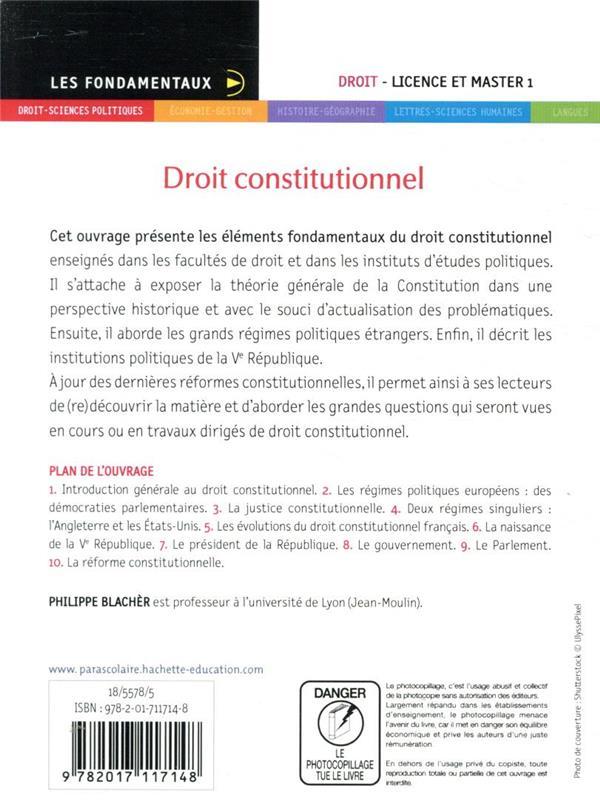 Droit constitutionnel (édition 2020/2021)