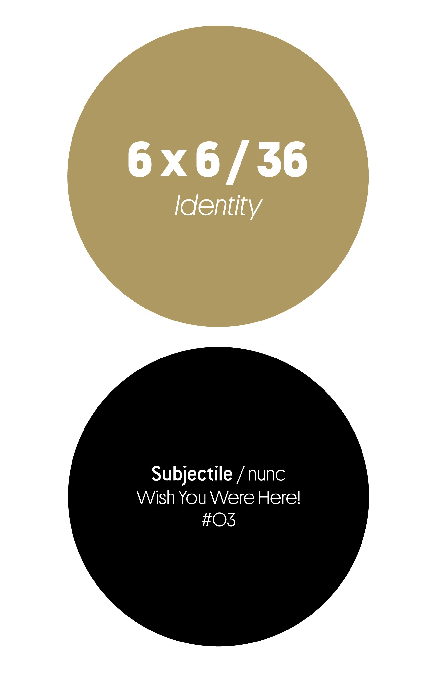 6 x 6 / 36 ; identity