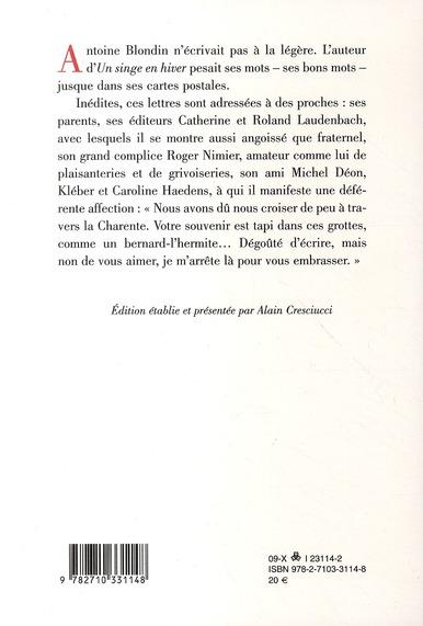 à mes prochains ; lettre de 1943 à 1984