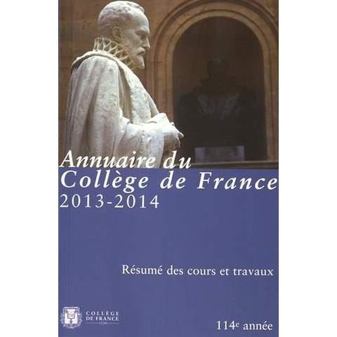 Annuaire du college de france 2013-2014