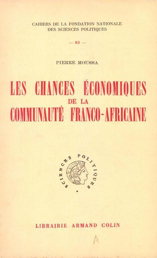 Les chances économiques de la communauté franco-africaine