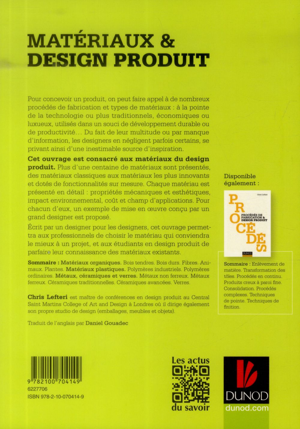 Matériaux & design produit