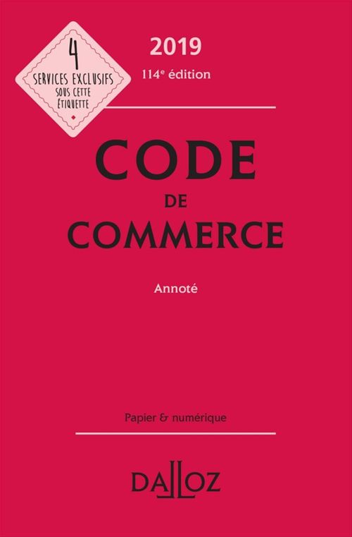 Code de commerce 2019, annoté