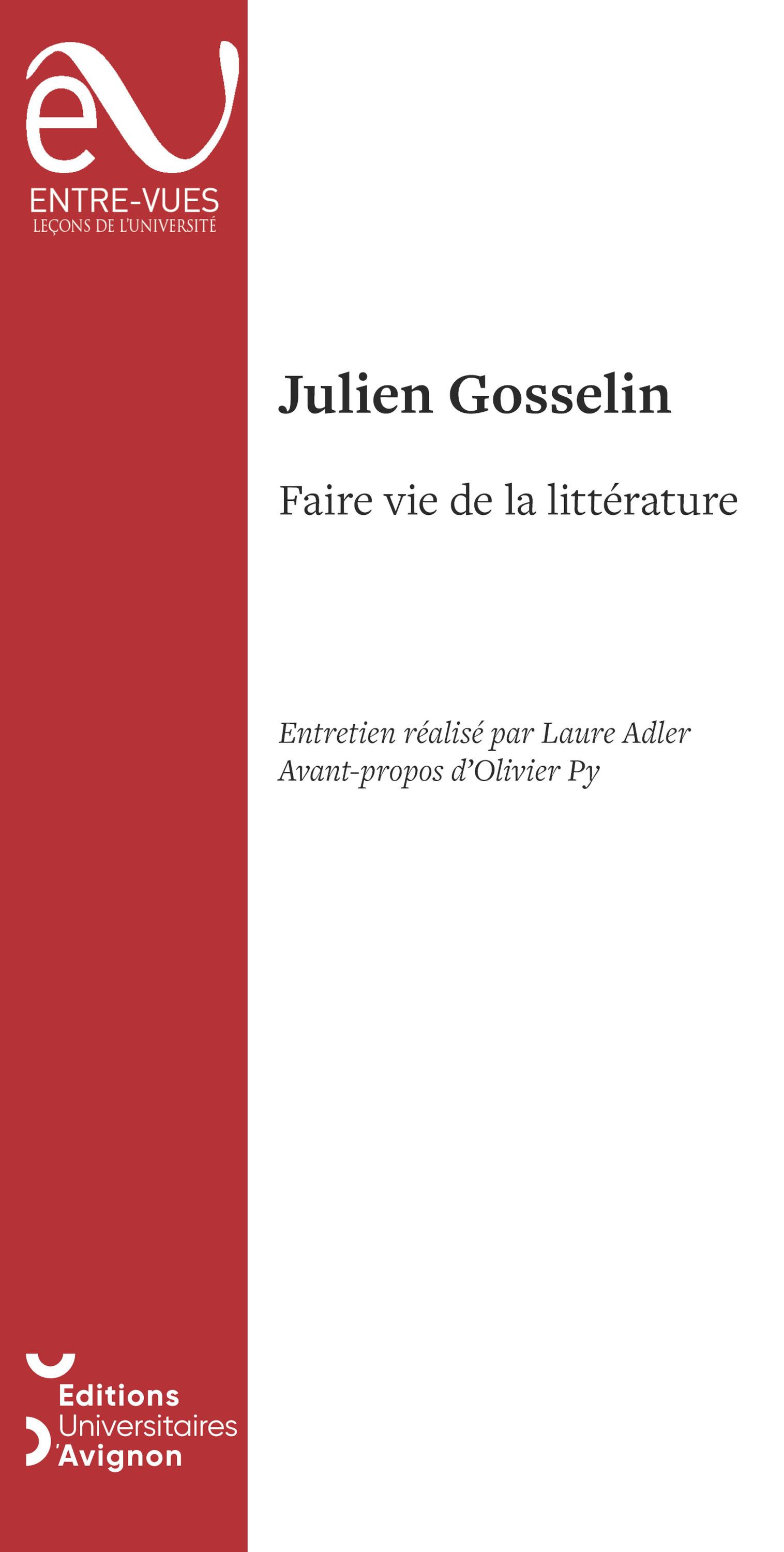 Faire Vie De La Litterature
