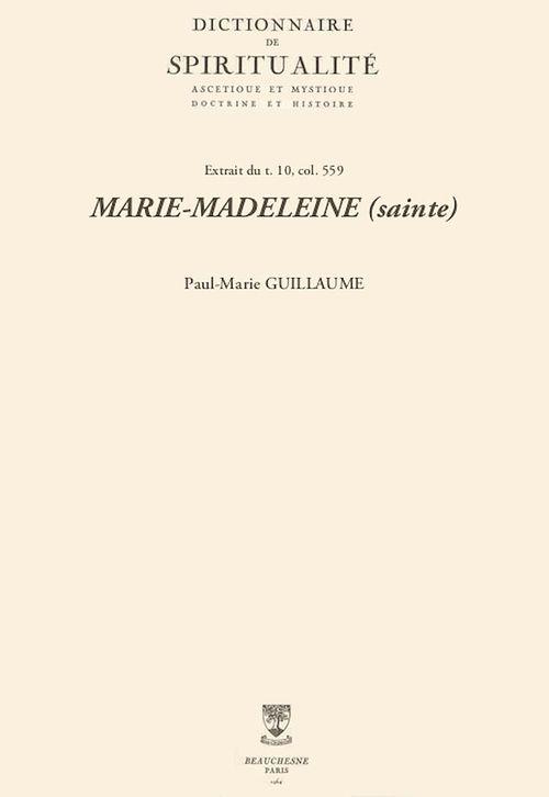 MARIE-MADELEINE (sainte)