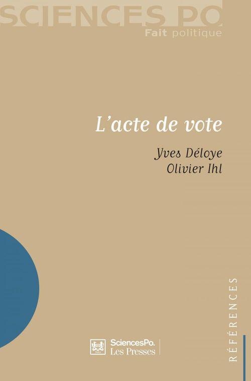 L'acte de vote
