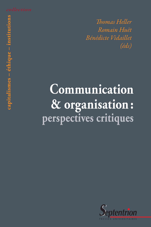 Communication et organisation perspectives critiques