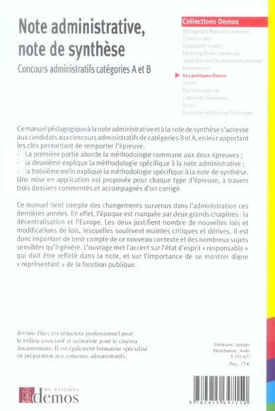 Note administrative, note de synthese