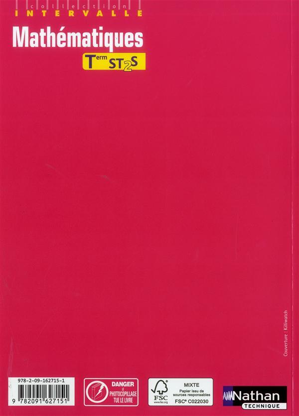 INTERVALLE ; mathématiques ; terminale ST2S ; livre de l'élève