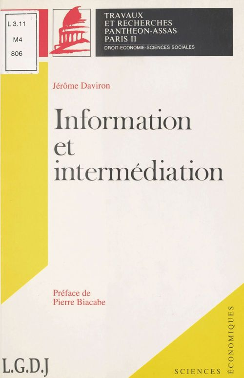 Information et intermediation