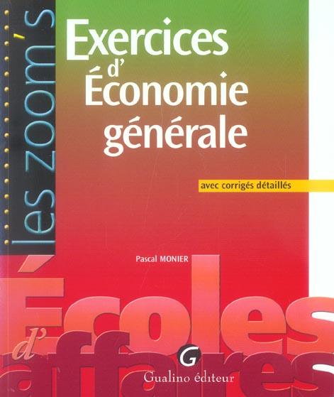 Exercices D'Economie Generale Avec Corriges