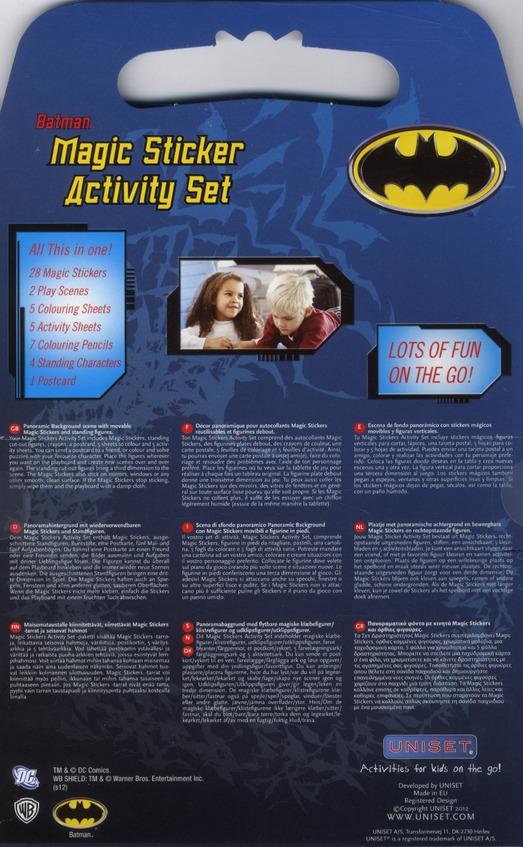 Batman ; magic sticker activity set
