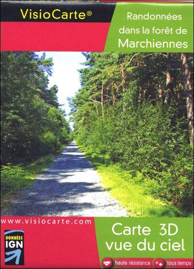 Forêt de marchiennes ; carte 3D vue du ciel