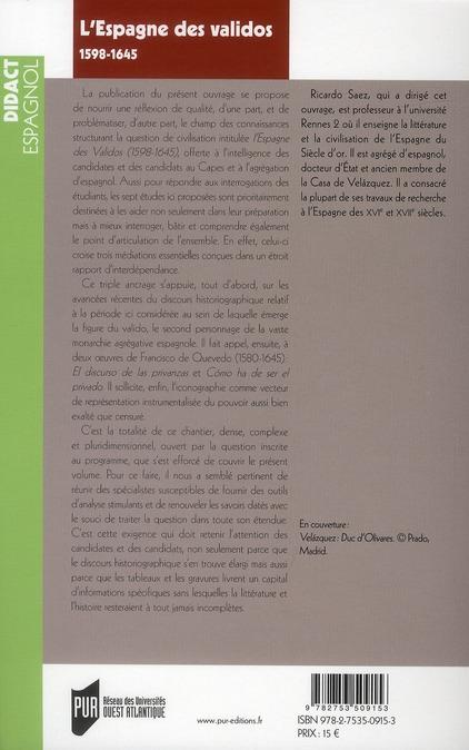 L'Espagne des validos (1598-1645)