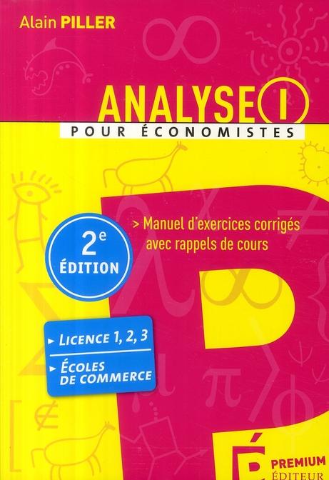 Analyse I (2e édition)