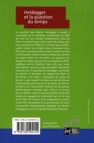 Heidegger et la question du temps (4e édition)