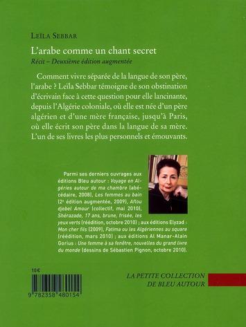 L'arabe comme un chant secret (2e édition)