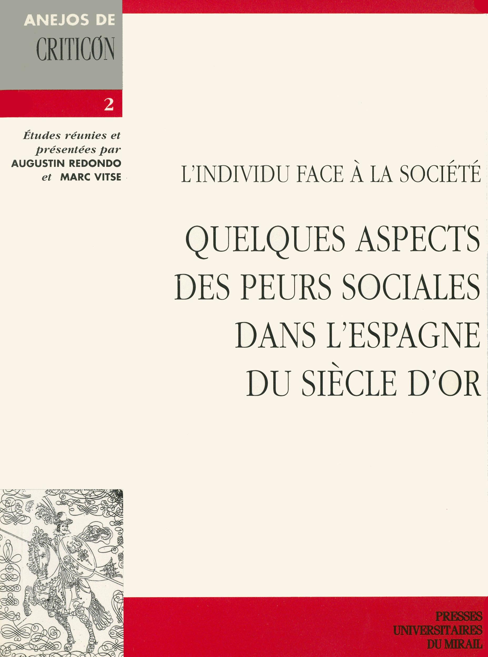 L´individu face à la société  - Marc Vitse  - Augustin Redondo