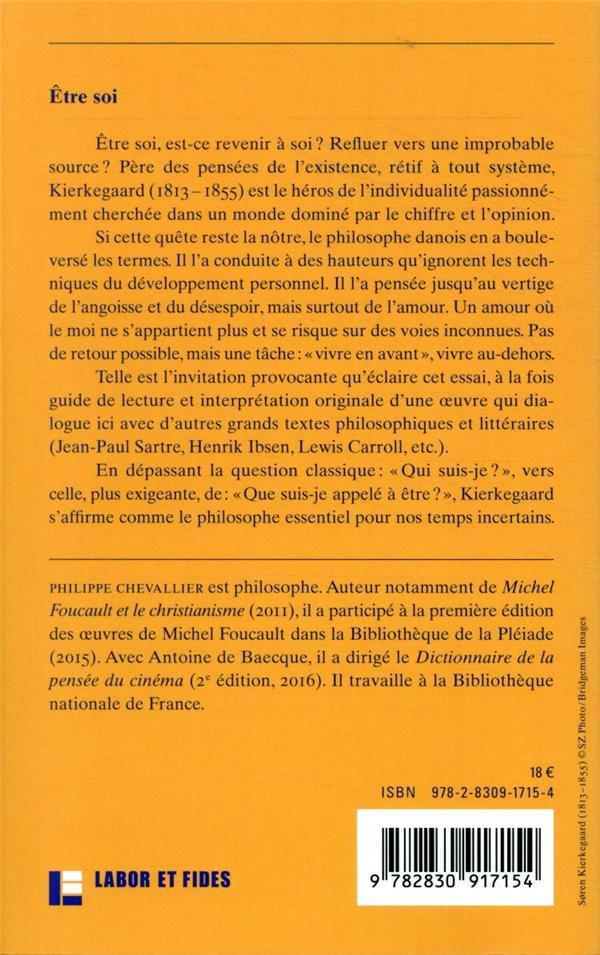 être soi ; une introduction à Kierkegaard