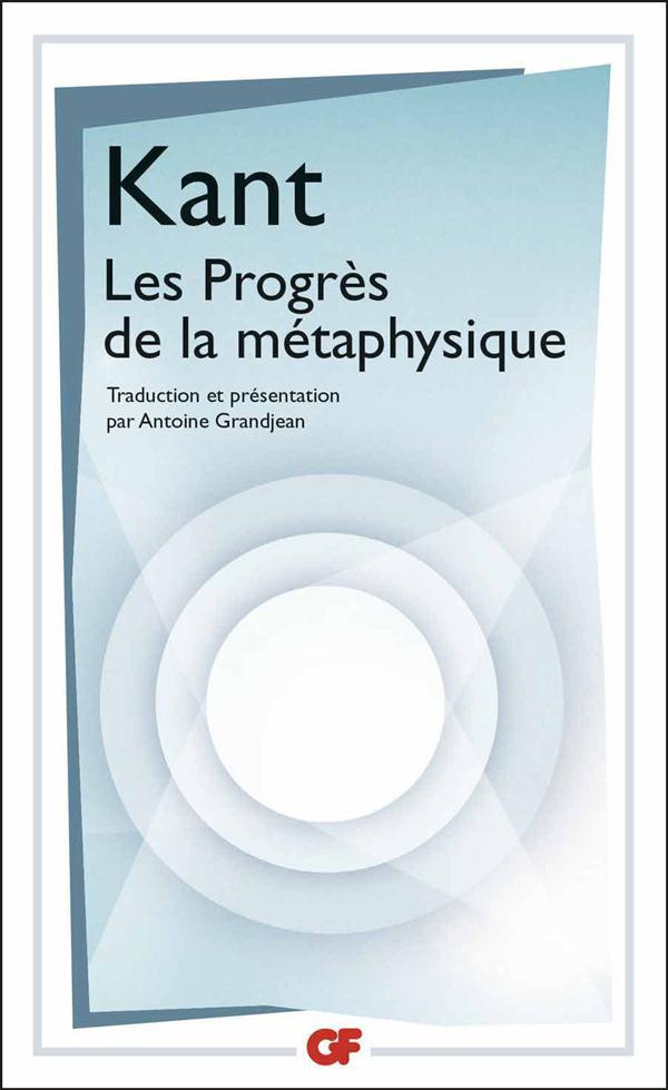 Les progrès de la métaphysique