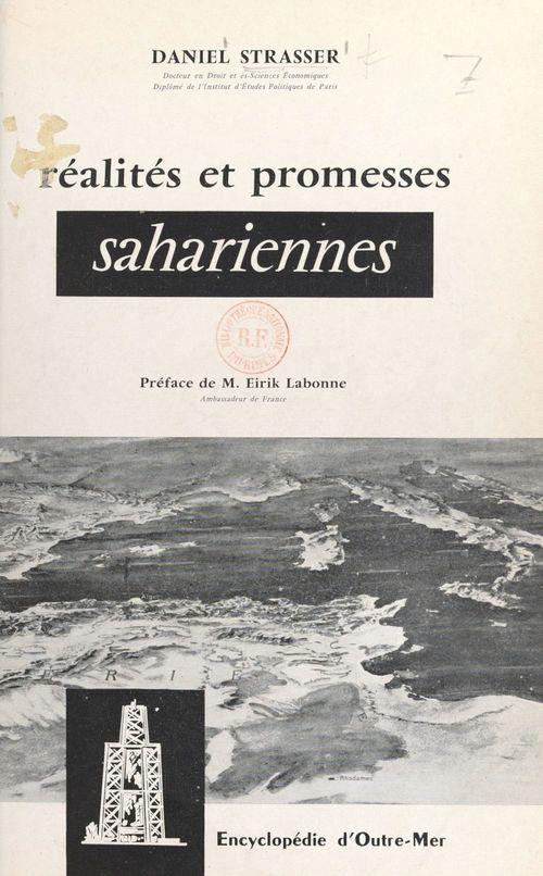 Réalités et promesses sahariennes