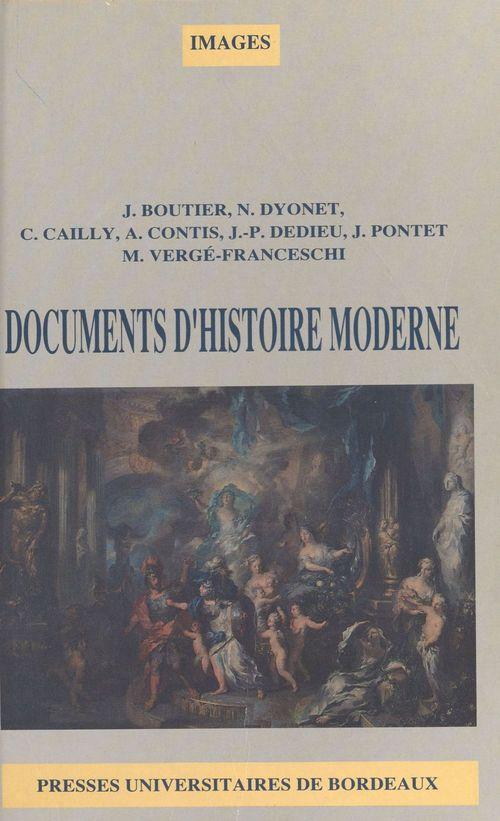 Documents d'histoire moderne