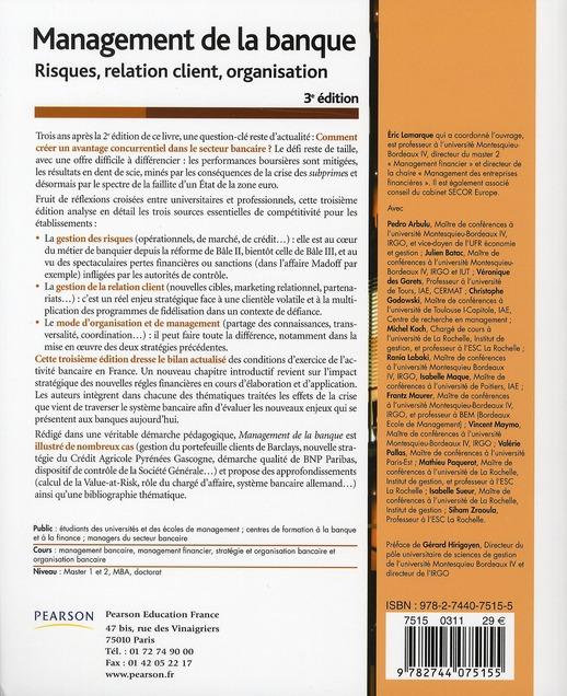 Management de la banque (3e édition)