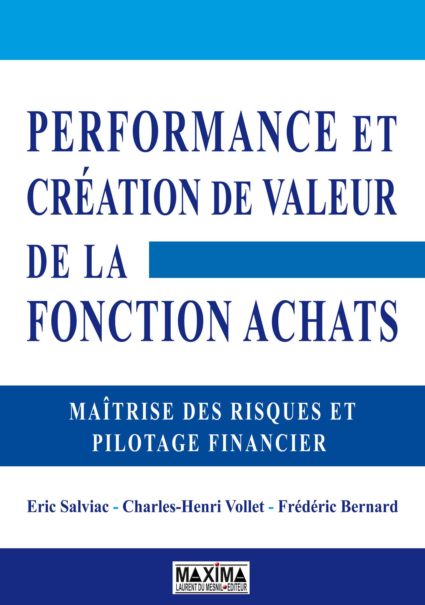 performance achats ; pilotage financier et contrôle interne