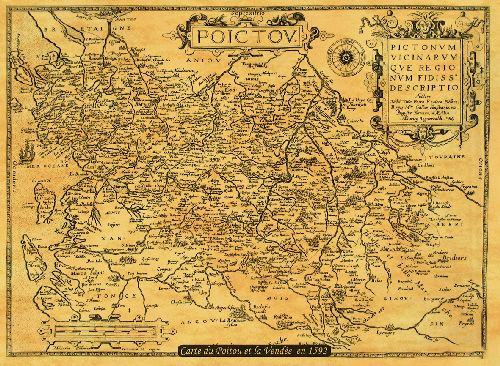 Le Poitou et la Vendée en 1596