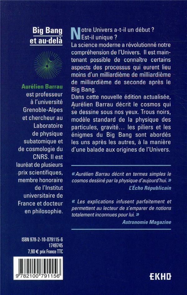 big bang et au-delà ; les nouveaux horizons de l'univers