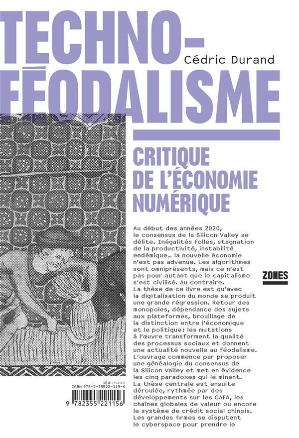 Technoféodalisme ; critique de l'économie numérique