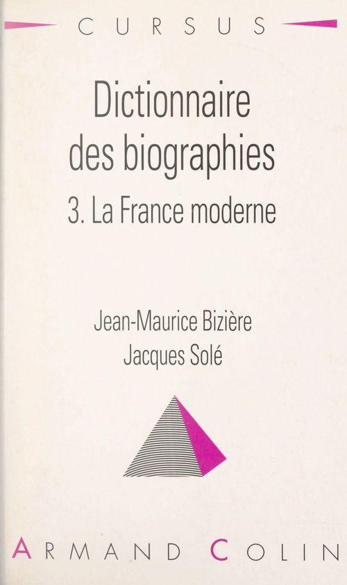 Dictionnaire des biographies (3)  - Jacques Sole