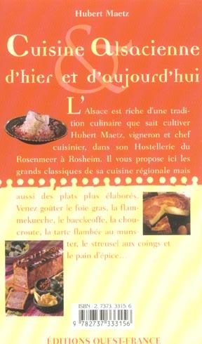 Cuisine alsacienne hier & auj. cs42885