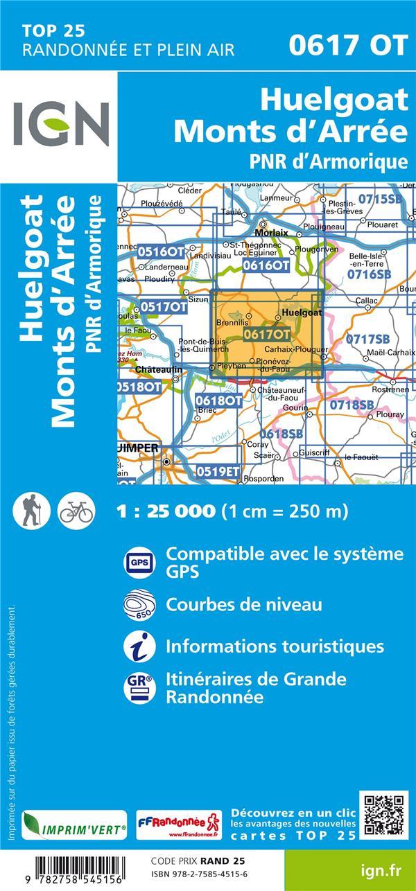 0617OT ; Huelgoat, Monts d'Arrée, PNR d'Armorique (2e édition)