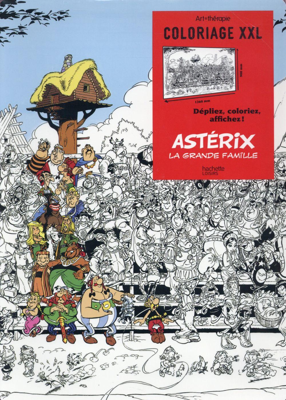 ART-THERAPIE ; Astérix ; la grande famille ; coloriages XXL